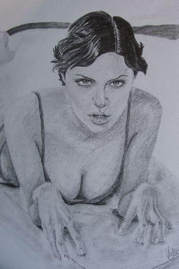 Angelina Jolie by chamalow